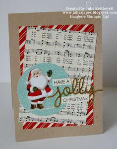Julie Kettlewell - Stampin Up UK Independent Demonstrator - Order products 24/7: Holly Jolly Santa