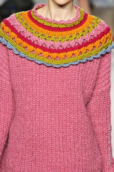 knit and croche collar - very nice!