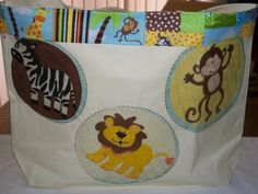 Jungle Friends Diaper Tote by KidBabies on Etsy, $45.00