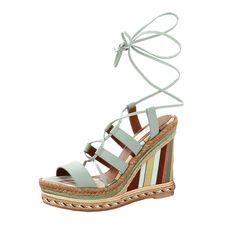 VALENTINO Navajo 1975 Gladiator Wedge. #valentino #shoes #wedge