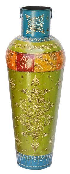 Flower Vase Holder Light Dark Brown Handmade In Bamboo Eco