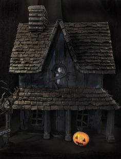 The Myers Gingerbread Residence - cake by Elizabeth Cupcake Cookies, Cupcakes, Halloween Cakes, Fancy Pants, Pumpkin Carving, Amazing Cakes, Crafty, Gingerbread Houses, Daily Inspiration