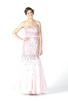 $435.00 BEAUTIFUL SEQUINED FULL LENGTH BELTED GOWN WITH A SWEETHEART NECKLINE AND MERMAID STYLE. CENTER BACK ZIP CLOSURE.