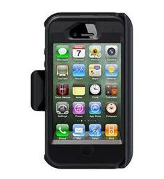 OtterBox Defender Case w/ Holster Belt Clip for Apple iPhone 4S (Black)