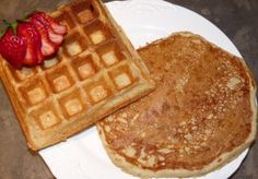 Wheat & Flax Buttermilk waffles & pancakes by Out of the Box Food.