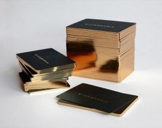 Gold edge black business cards