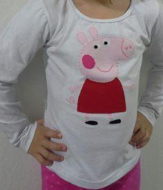 Blusa infantil com aplicação Peppa Pig