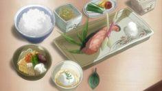 Pasto giapponese a base di pesce, riso, verdura, ecc. Shuffle