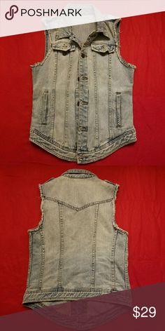 Blank NYC Denim Vest Rough edge. Lightly worn. No flaws. #poshstyle Blank NYC Jackets & Coats Jean Jackets