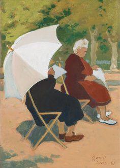 Greta Gerell 1898-1982  In the park, Paris.
