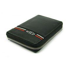 Pánská peněženka na zip černá kožená - peněženky AHAL Pierre Cardin, Money Clip, Zip Around Wallet, Money Clips