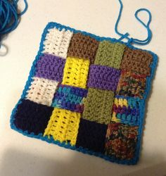A Great Project to use up Scrap Yarn!!                 First I decided what size square I wanted to end up with.   I decided to make a 8 x ...