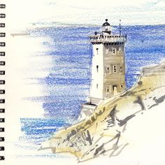 Bretagne - Le phare de Kermorvan #dessin #draw #croquis #sketch #travelsketch…