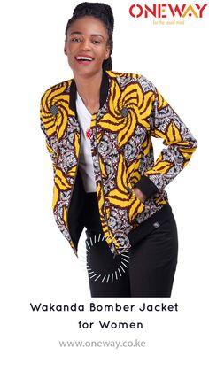 Enjoy the 10% discounts when you shop online for this stylish Wakanda bomber jacket. #womensfashion #madeinkenya #jacket #onewaykenya #kitenge #tembeakenya #BuyKenyaBuildKenya #Kenya #africanfashion use promocode : insta10% Fleece Jackets, Kitenge, West Africa, Kenya, Jackets For Women, Bomber Jacket, Stylish, Shop, Pattern