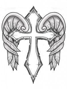 Adult Cross Coloring Pages Awesome Cross with Wings Colouring Pages Clipart Best Clipart Best Cross Coloring Page, Skull Coloring Pages, Fairy Coloring Pages, Adult Coloring Book Pages, Free Coloring Pages, Printable Coloring Pages, Coloring Books, Coloring Pages For Grown Ups, Cross Tattoo Designs