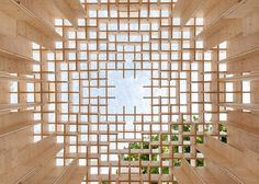Swedish firms Kjellander + Sjöberg and Folhem have built a wooden pavilion between the Venice Biennale venues, in tribute to the city's wooden foundations