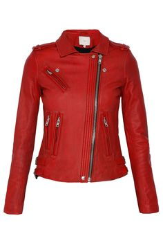 IRO Red Leather Biker Jacket- I normally don't go for colors like red, but I like this one.