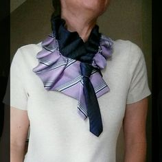 Upcycled tie ruffle collars from Desert Pearl Designs will help you stand out in your crowd. Ring in the new year in ecofriendly style.