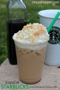 CopyCat Starbucks Iced Cinnamon Dolce Latte Recipe. Yum! Starbucks at Home saving me some $$'s.