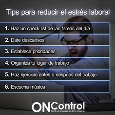 Tips para reducir el estrés laboral.