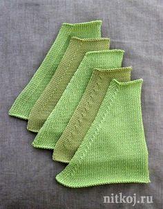 Как красиво делать убавления в вязании спицами