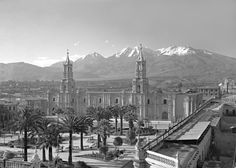 Carlos and Miguel Vargas Main Square (Plaza de Armas) [Vista de la Plaza de Armas], Arequipa, Peru, c. 1925 Archival Digital Print, 2009, made from scan of Original Glass Plate Negative, 2002 by The Photographic Archive Project Courtesy of The Photographic Archive Project, Houston, Texas