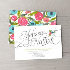 branding inspiration -- colors, font...  Paradise Wedding Invitations - Wedding Invitations - Wedding | Smitten on Paper