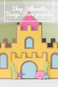 This sandcastle by Lori Whitlock couldn't be any cuter! It measures when complete. Silhouette Projects, Silhouette Design, Silhouette Studio, Design Projects, Craft Projects, Receding Gums, Studio Software, Silhouette America, Card Stock