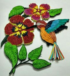 Quilled Humming Bird - by: RU Artist
