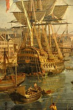 Jean-François Hue,  «Vue du port de Brest», détail