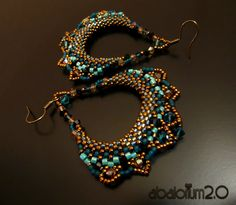 pretty peyote earrings. Unfortunatly the link is broken but they are still very pretty anyway