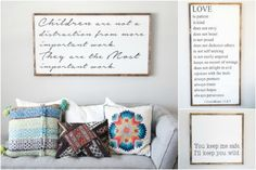 Farmhouse signs are such a beautiful way to bring thoughts and words into your home decor. Check out all the sayings available here