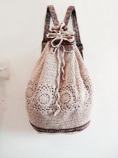 http://www.aliexpress.com/store/1687168 Crochet Backpack Inspiration ❥ 4U hilariafina http://www.pinterest.com/hilariafina/