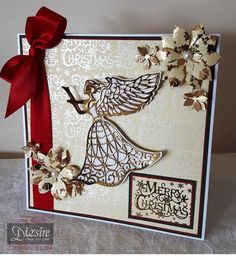 8x8 tent card made using the Guardian Angel from the Sara Signature Traditional…