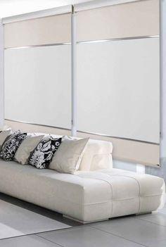 Cortinas como separador de ambientes | SuperDecor Cortinas & Decoración Sala Grande, Bed, Furniture, Home Decor, Colores Paredes, Blinds, Half Doors, White Cabinets, Home Furniture