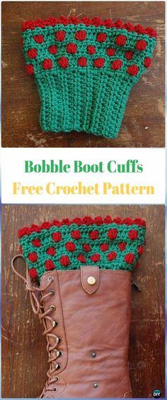 Crochet Bobble Boot Cuffs Free Pattern - Crochet Boot Cuffs Free Patterns