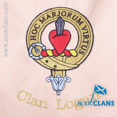 Clan Logan Custom Embroidery @ScotClans. Free worldwide shipping available