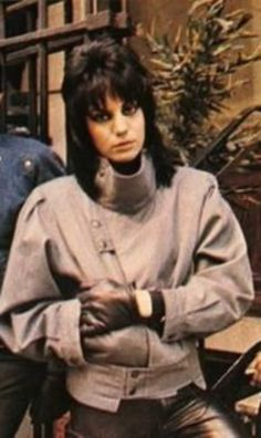 """JOAN JETT.  --Probably not what she was going for, but she gives off a bit of a """"Prince Charming"""" air in this picture, don't you think?"""