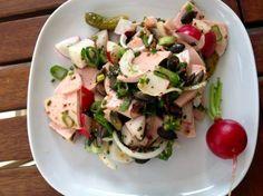 Wurstsalat Franz Josef Strauss, Caprese Salad, Potato Salad, German, Dishes, Cooking, Ethnic Recipes, Blog, Beautiful
