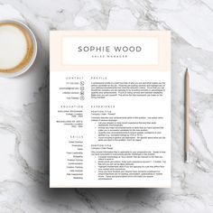 Creative Resume Template For Word  Pages Green Cv Template