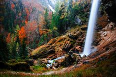 Waterfall in autumn by Tardigrade  on 500px
