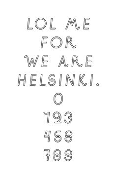 LOLME sans by Jaakko Suomalainen for We are Helsinki magazine.