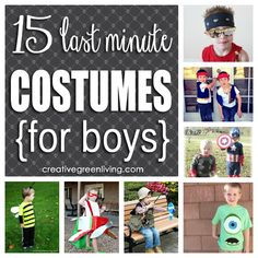 15 last minute halloween costumes for boys!