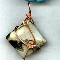 Artistic Jasper Copper Wire Wrapped Pendant by sweetvib on Etsy, $20.00