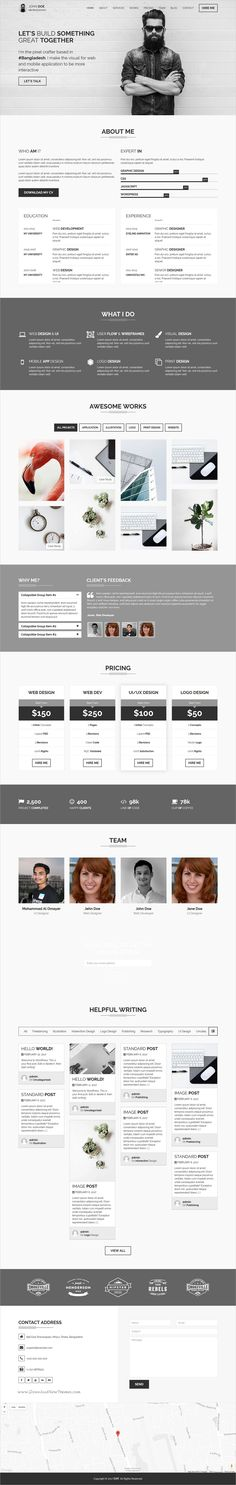 Myers - Responsive vCard \/ Resume \/ CV WP Theme Resume cv and - personal website resume