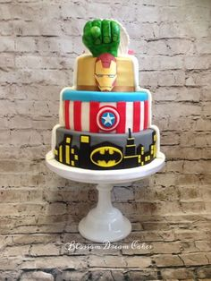 This Two-Sided Superhero Wedding Cake Is The Perfect Compromise