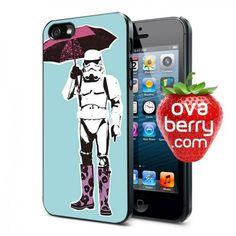 Stormtrooper Star Wars Pink Umbrella iPhone and Samsung Galaxy Phone Case