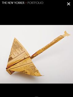 Harry Everett Smith's collection of paper airplanes found in NYC. (from The New Yorker)