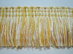5 yards Gold-Vanilla Brush Fringe Trim Tassel Trim by ichimylove