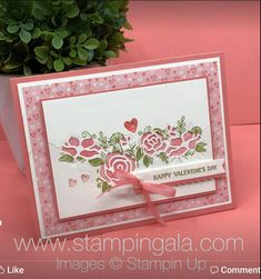 Stampin Gala: How to use the Lovely Flowers Edgelits Dies Video Valentine Greeting Cards, Greeting Cards Handmade, Wedding Cards Handmade, Love Cards, Cards Diy, Pretty Cards, Wedding Anniversary Cards, Stamping Up Cards, Creative Cards